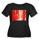 Red Sunrise Plus Size T-Shirt