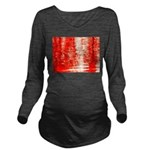 Red Sunrise Long Sleeve Maternity T-Shirt