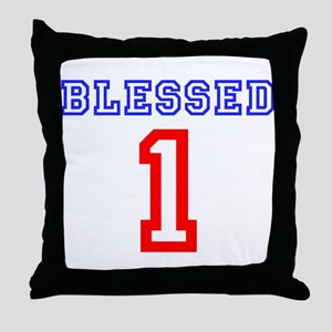BLESSED 1 Throw Pillow