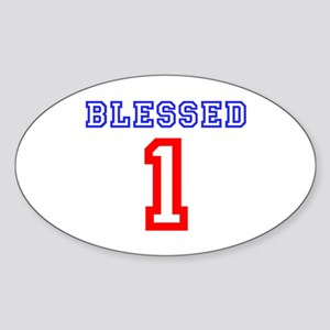 BLESSED 1 Sticker (Oval)