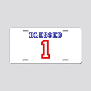 BLESSED 1 Aluminum License Plate