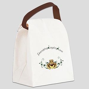 Irish Claddagh (for dark backgrou Canvas Lunch Bag