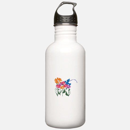 Wishing You A Happy Spring! Water Bottle