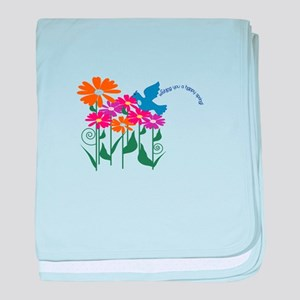 Wishing You A Happy Spring! baby blanket