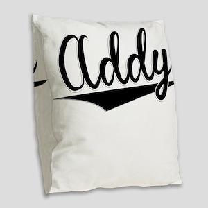 Addy, Retro, Burlap Throw Pillow