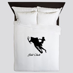 Sled Chick Queen Duvet