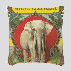 vintage white elephant whimsical gifts Woven Throw