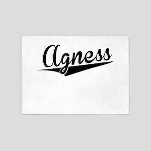 Agness, Retro, 5'x7'Area Rug