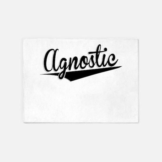 Agnostic, Retro, 5'x7'Area Rug