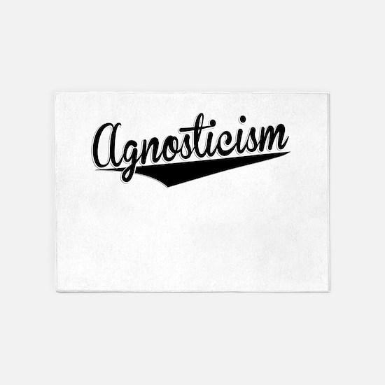 Agnosticism, Retro, 5'x7'Area Rug