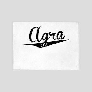 Agra, Retro, 5'x7'Area Rug