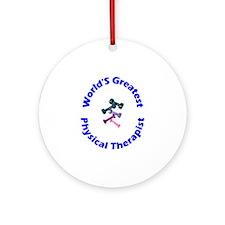 World's Greatest PT (blue) Ornament (Round)