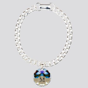 Monogram with ZigZag and Floral Bracelet