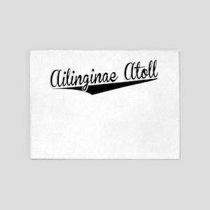 Ailinginae Atoll, Retro, 5'x7'Area Rug