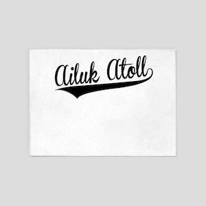 Ailuk Atoll, Retro, 5'x7'Area Rug