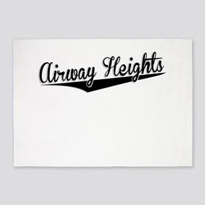 Airway Heights, Retro, 5'x7'Area Rug