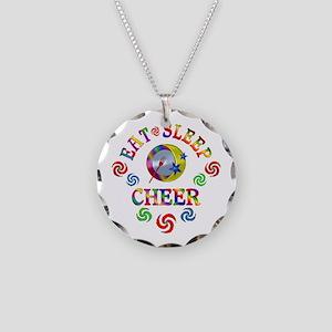 Eat Sleep Cheer Necklace Circle Charm