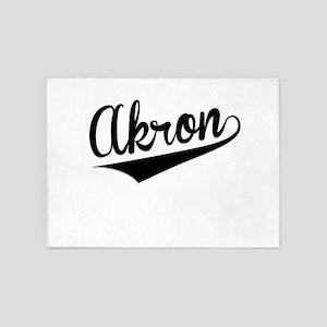 Akron, Retro, 5'x7'Area Rug