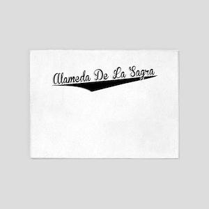 Alameda De La Sagra, Retro, 5'x7'Area Rug