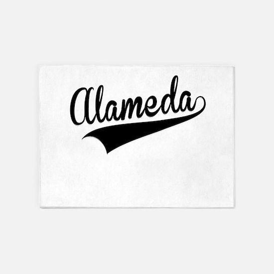 Alameda, Retro, 5'x7'Area Rug