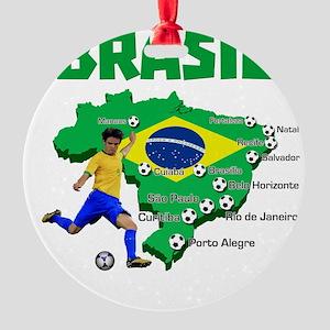 Brasil Futebol 2014 Ornament