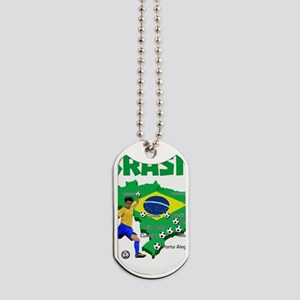 Brasil Futebol 2014 Dog Tags