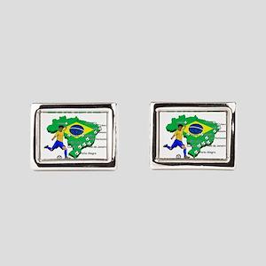 Brasil Futebol 2014 Rectangular Cufflinks