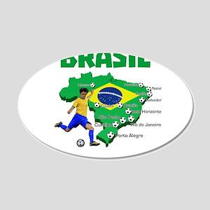 Brasil Futebol 2014 Wall Decal