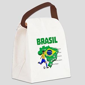 Brasil Futebol 2014 Canvas Lunch Bag