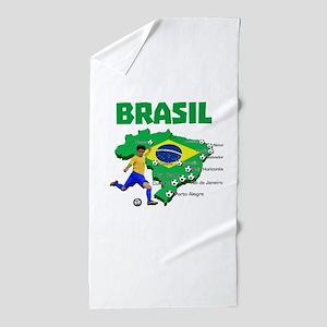 Brasil Futebol 2014 Beach Towel