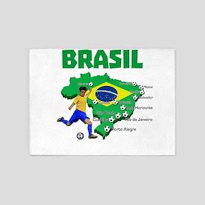 Brasil Futebol 2014 5'x7'Area Rug