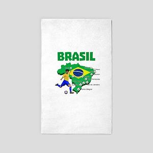 Brasil Futebol 2014 3'x5' Area Rug