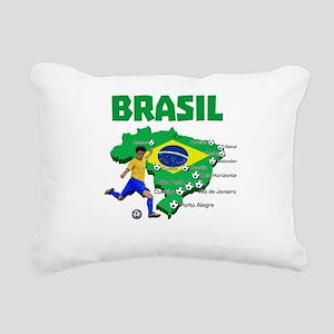 Brasil Futebol 2014 Rectangular Canvas Pillow