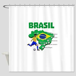 Brasil Futebol 2014 Shower Curtain
