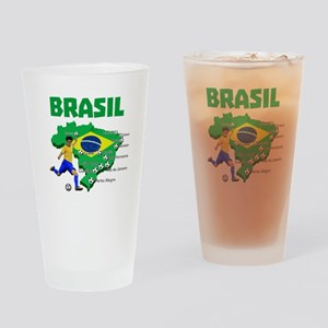 Brasil Futebol 2014 Drinking Glass