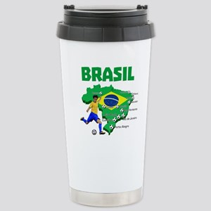 Brasil Futebol 2014 Travel Mug