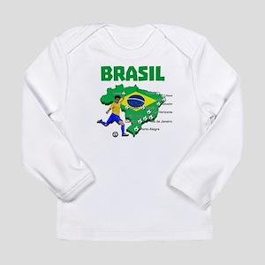 Brasil Futebol 2014 Long Sleeve T-Shirt