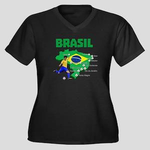 Brasil Futebol 2014 Plus Size T-Shirt