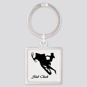 Sled Chick Keychains