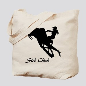 Sled Chick Tote Bag