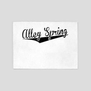 Alley Spring, Retro, 5'x7'Area Rug