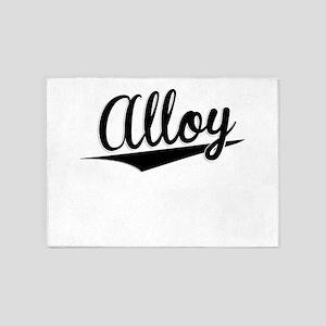 Alloy, Retro, 5'x7'Area Rug