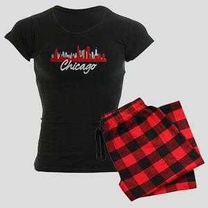 Chicago Illinois Skyline Women's Dark Pajamas