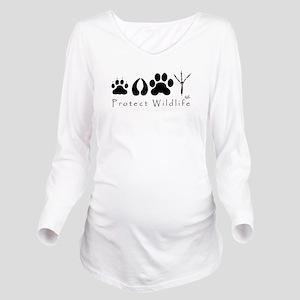 pawprints Long Sleeve Maternity T-Shirt