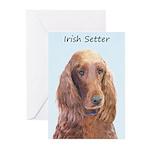 Irish Setter Greeting Cards (Pk of 10)