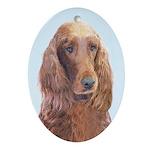 Irish Setter Oval Ornament