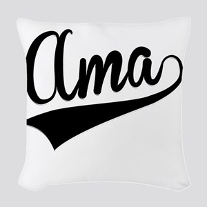 Ama, Retro, Woven Throw Pillow