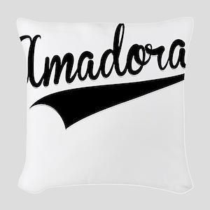 Amadora, Retro, Woven Throw Pillow