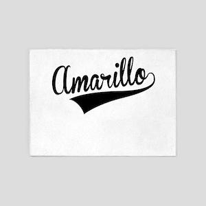 Amarillo, Retro, 5'x7'Area Rug
