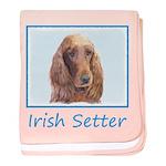 Irish Setter baby blanket